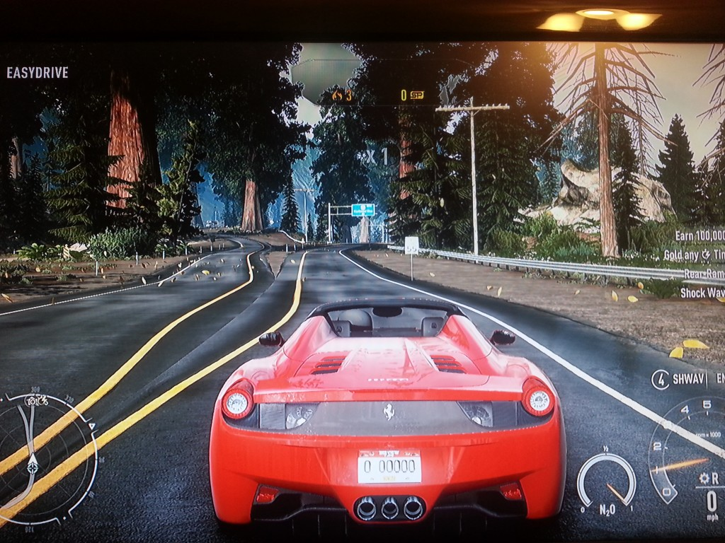 Ferrari on the open road