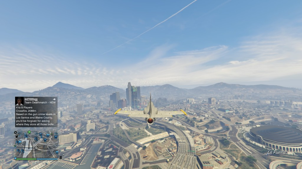 Besra heading towards downtown Los Santos