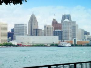 Detroit skyline from Wikimedia.com