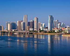 picture of Miami skyline from destination360.com.